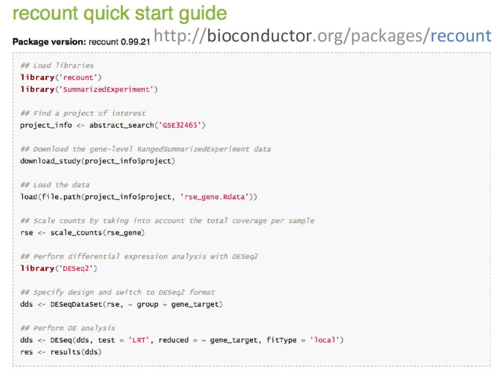 http://bioconductor.org/packages/recount