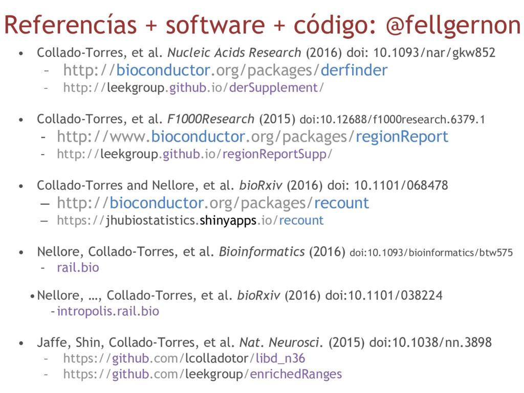Referencías + software + código: @fellgernon • ...