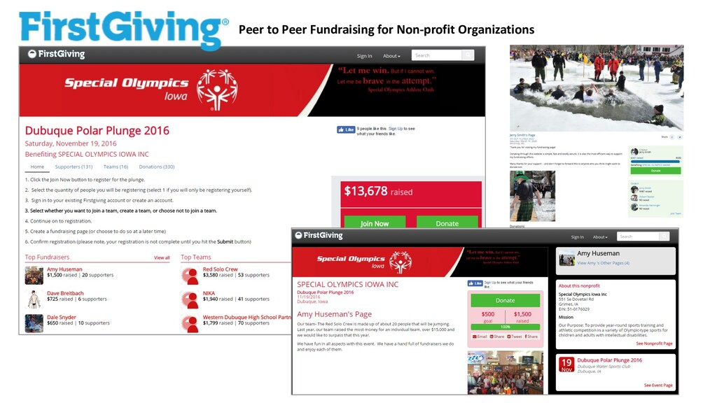 Peer to Peer Fundraising for Non-profit Organiz...