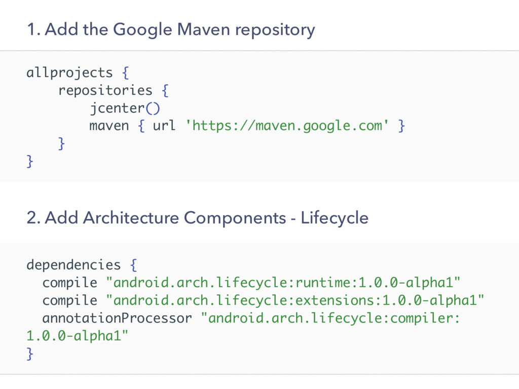 allprojects { repositories { jcenter() maven { ...