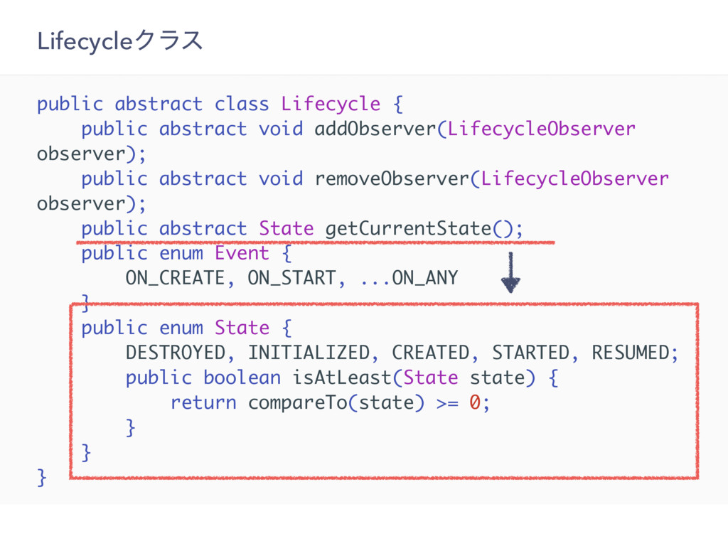 LifecycleΫϥε public abstract class Lifecycle { ...
