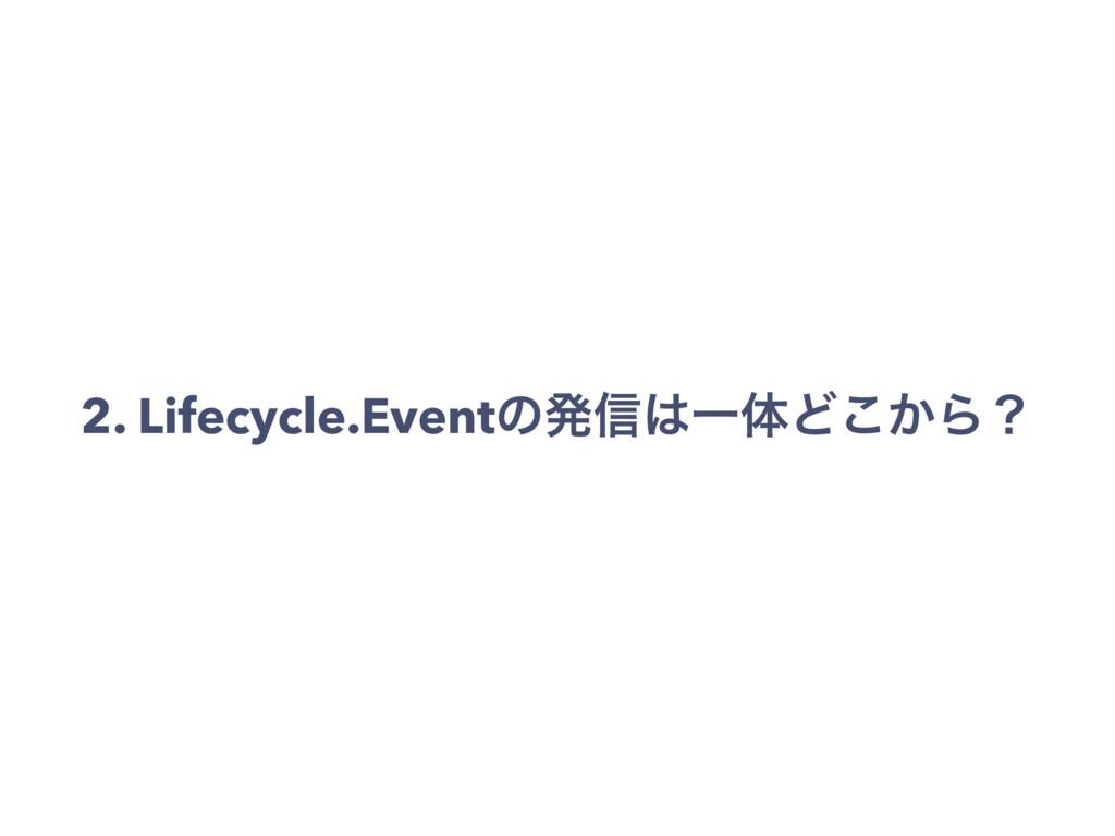 2. Lifecycle.Eventͷൃ৴ҰମͲ͔͜Βʁ