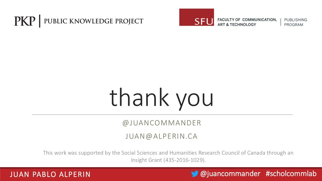 JUAN PABLO ALPERIN @juancommander #scholcommlab...