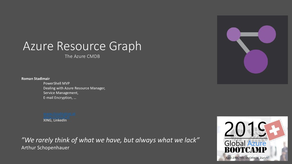 Azure Resource Graph The Azure CMDB Roman Stadl...