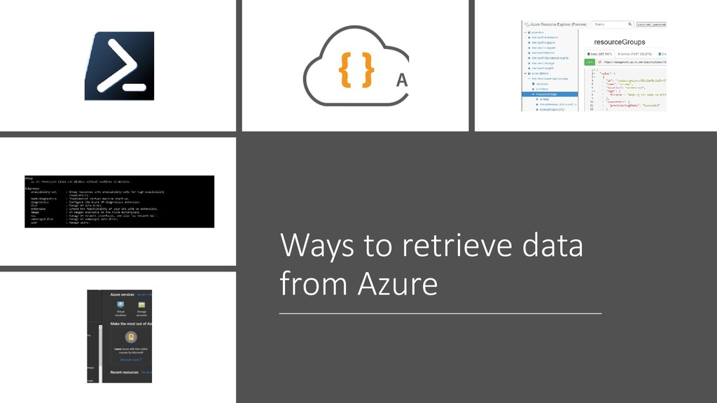 Ways to retrieve data from Azure
