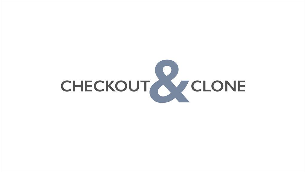 CHECKOUT CLONE &