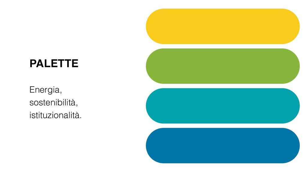 PALETTE Energia, sostenibilità, istituzionalità.