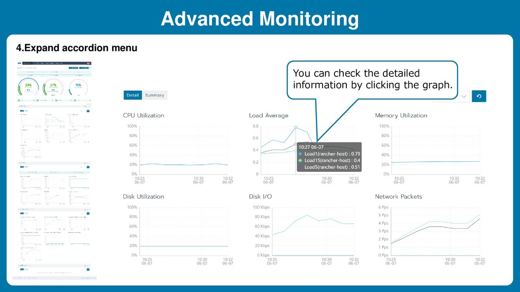 4.Expand accordion menu Advanced Monitoring You...
