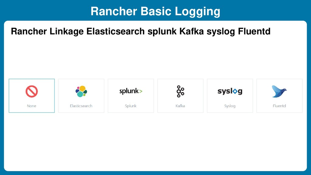 Rancher Basic Logging Rancher Linkage Elasticse...