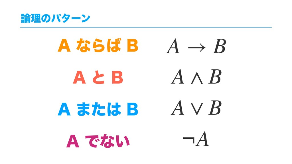 "ཧͷύλʔϯ ""ͳΒ# ""ͱ# ""·ͨ# ""Ͱͳ͍ A → B A ..."