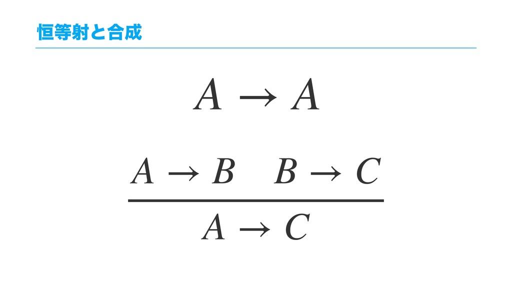 ߃ࣹͱ߹ A → B B → C A → C A → A