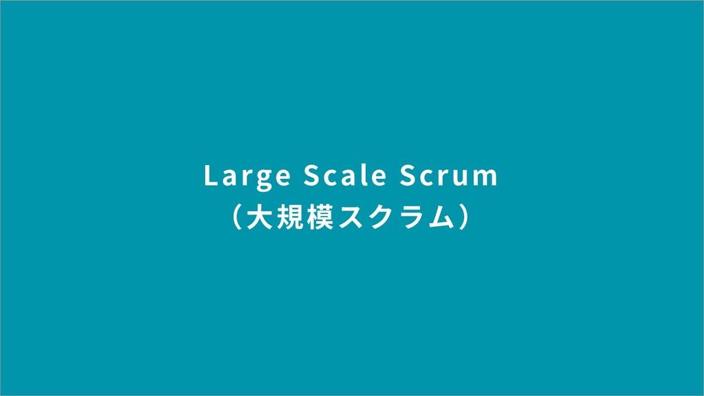 Large Scale Scrum (⼤規模スクラム)