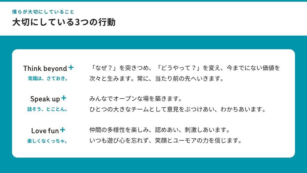 ⓒ 2020 atama plus Inc. ⼤切にしている3つの⾏動 35 僕らが⼤切にして...