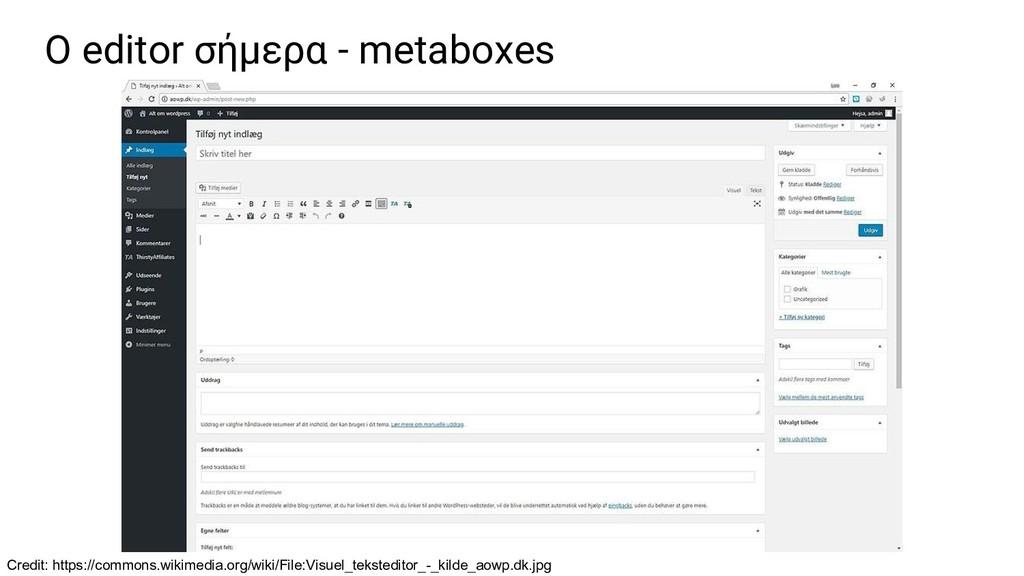 Ο editor σήμερα - metaboxes Credit: https://com...