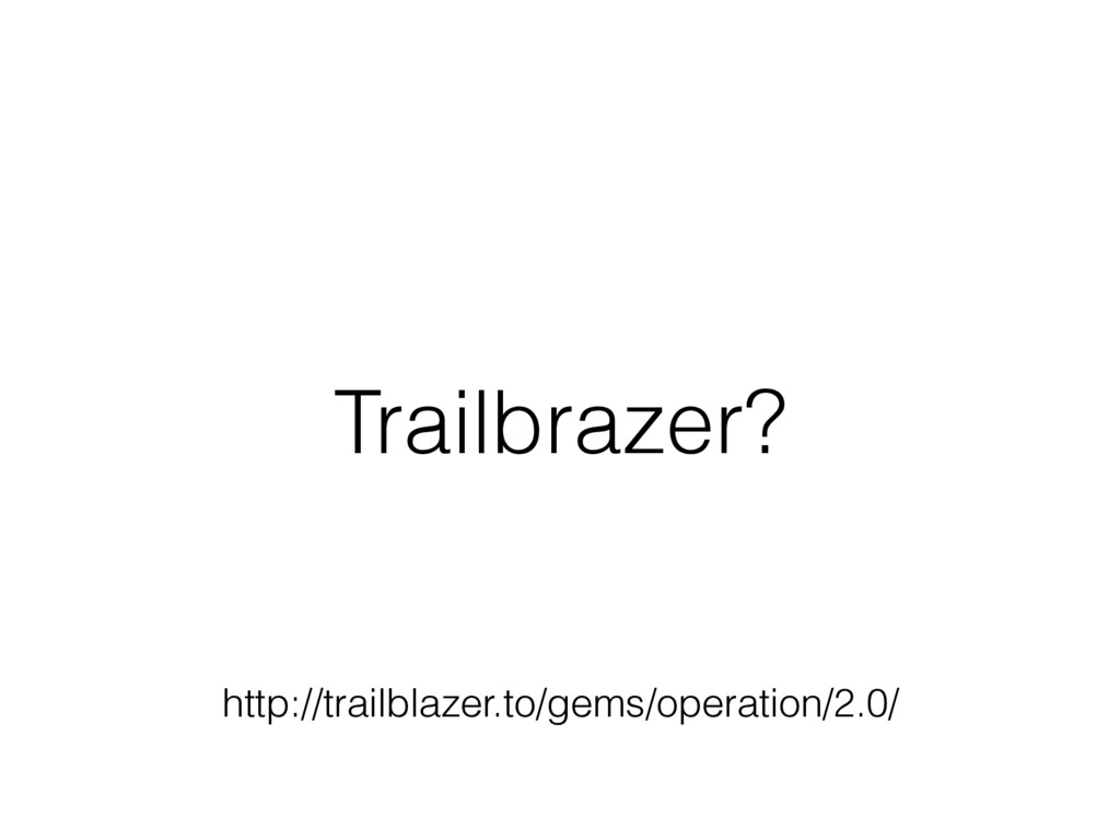 Trailbrazer? http://trailblazer.to/gems/operati...