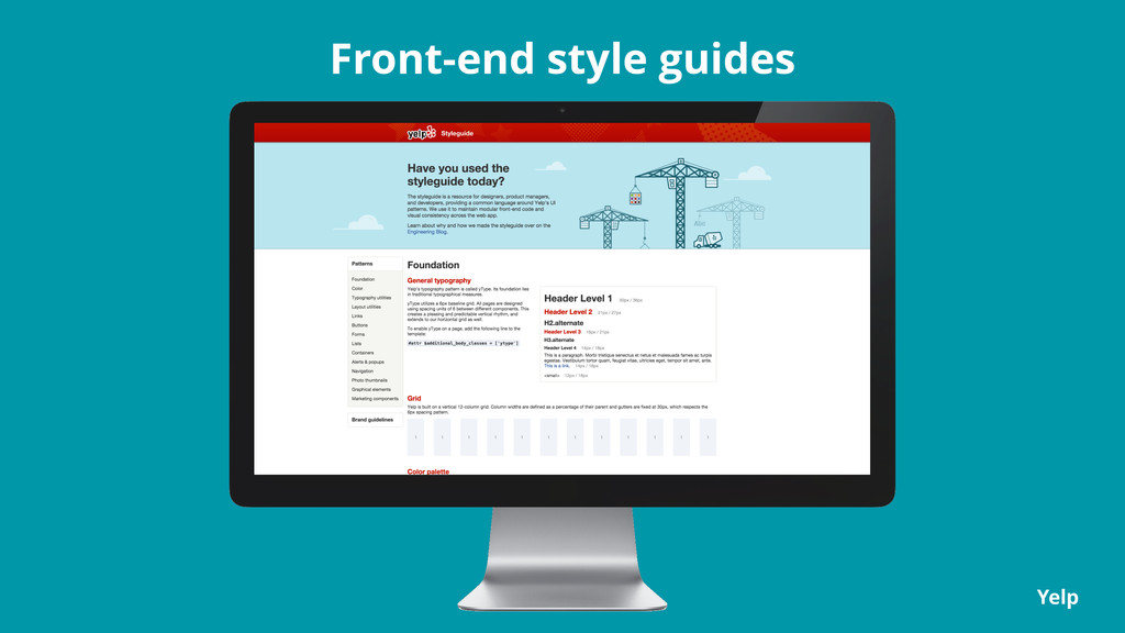 Front-end style guides Yelp