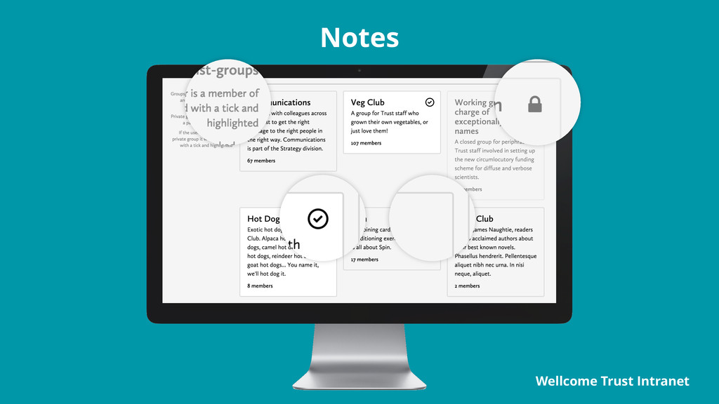 Notes Wellcome Trust Intranet