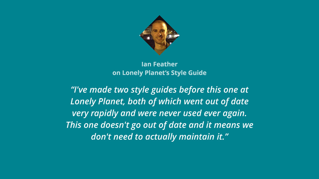 "Ian Feather on Lonely Planet's Style Guide ""I'v..."