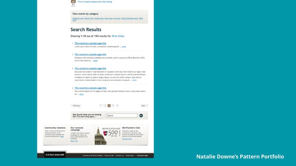 Natalie Downe's Pattern Portfolio