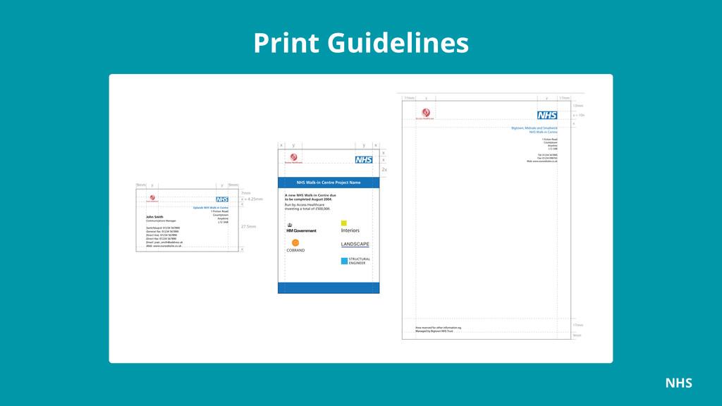 Print Guidelines NHS