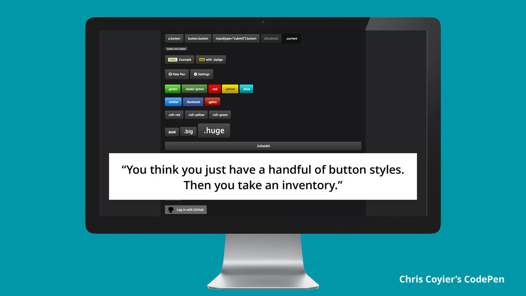 "Chris Coyier's CodePen ""You think you just have..."