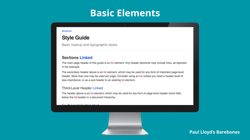 Basic Elements Paul Lloyd's Barebones