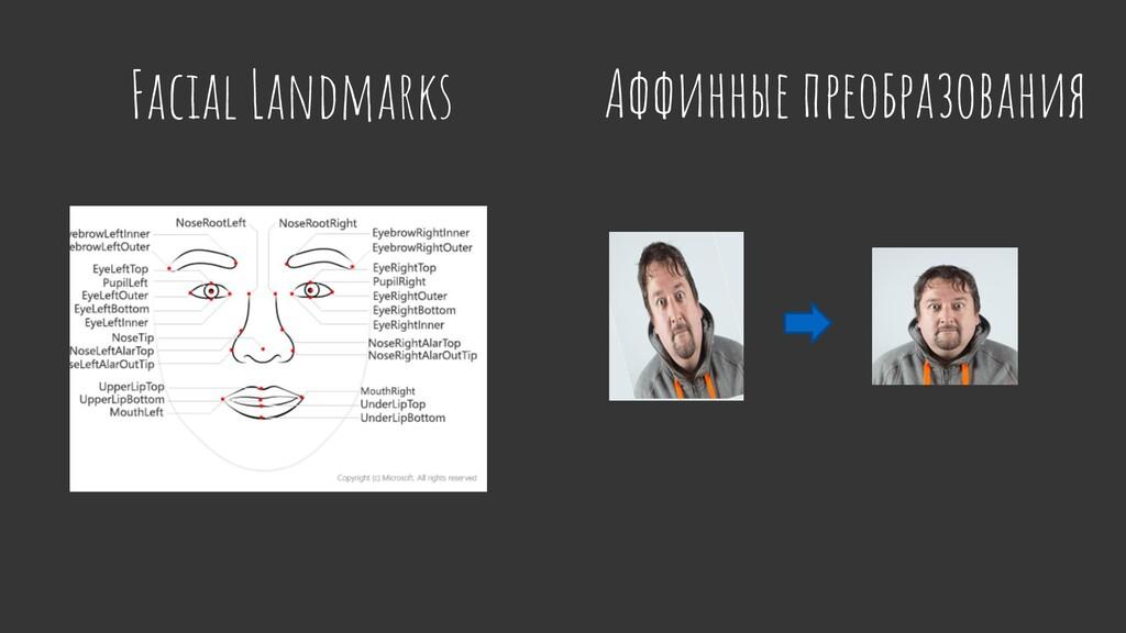 Facial Landmarks Аффинные преобразования