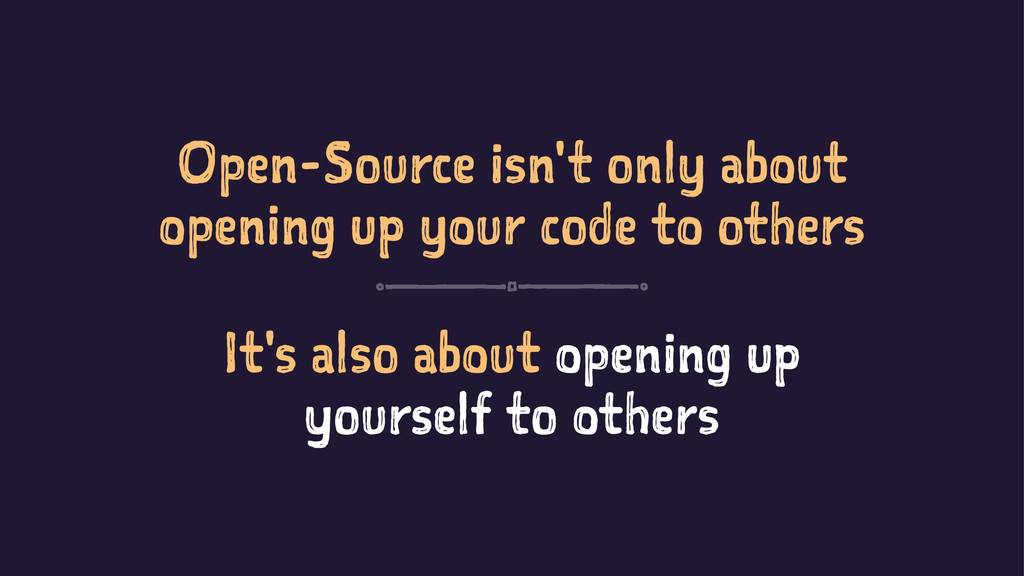 Open-Source isn't only about opening up your co...