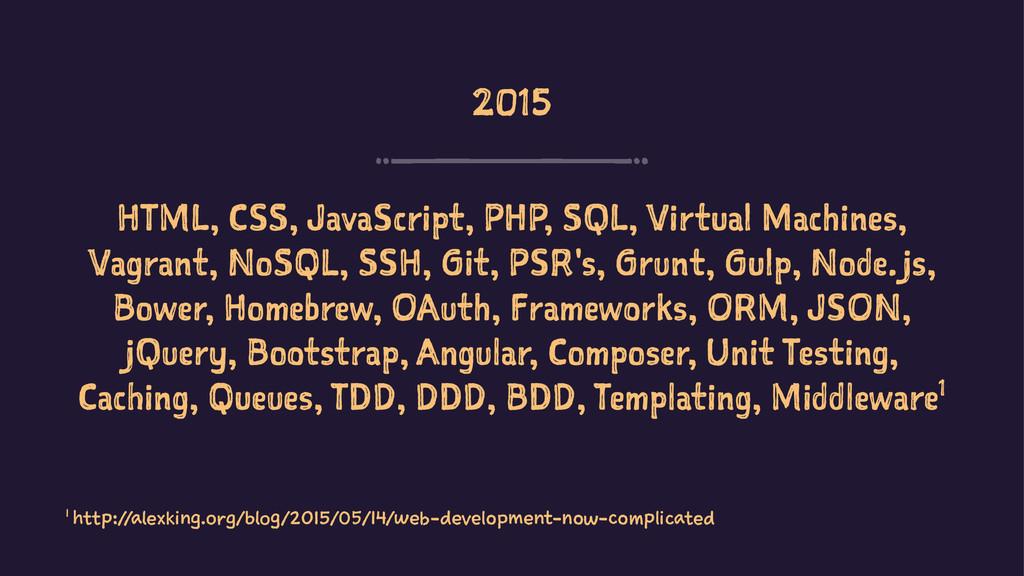 2015 HTML, CSS, JavaScript, PHP, SQL, Virtual M...