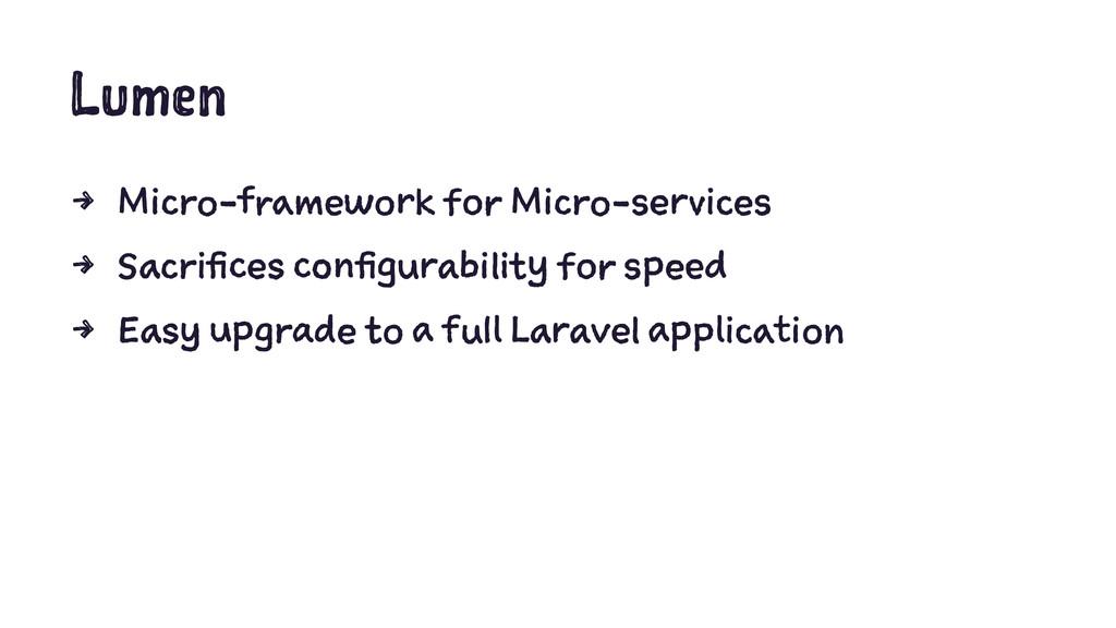 Lumen 4 Micro-framework for Micro-services 4 Sa...