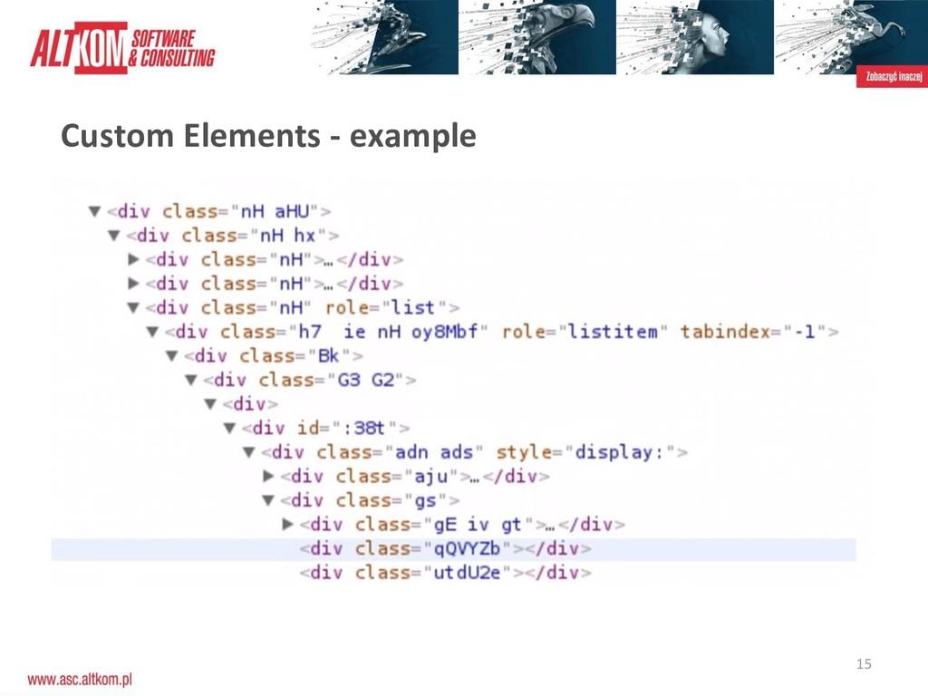 15 Custom Elements - example