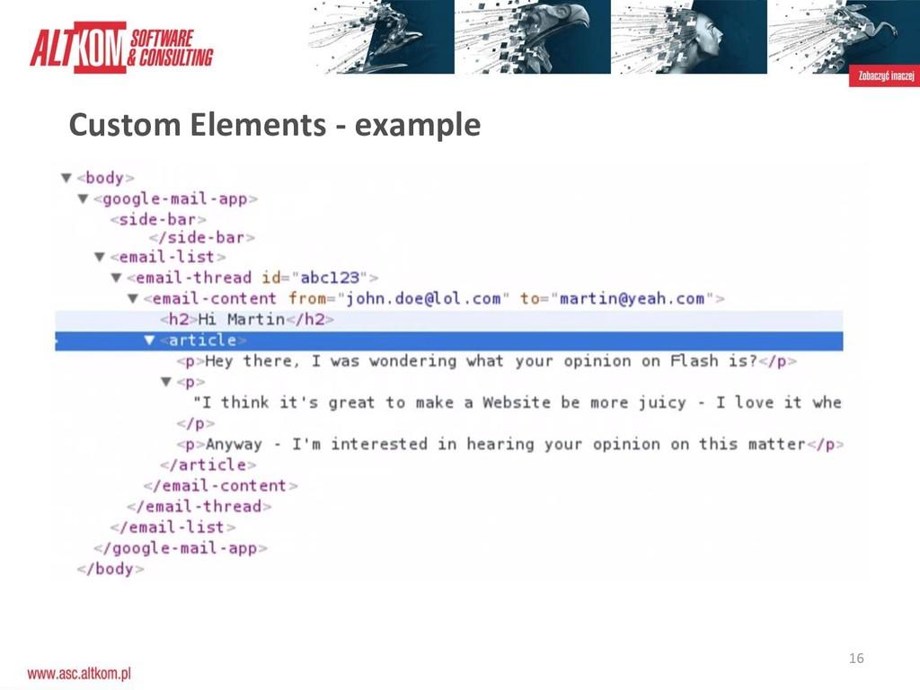 16 Custom Elements - example