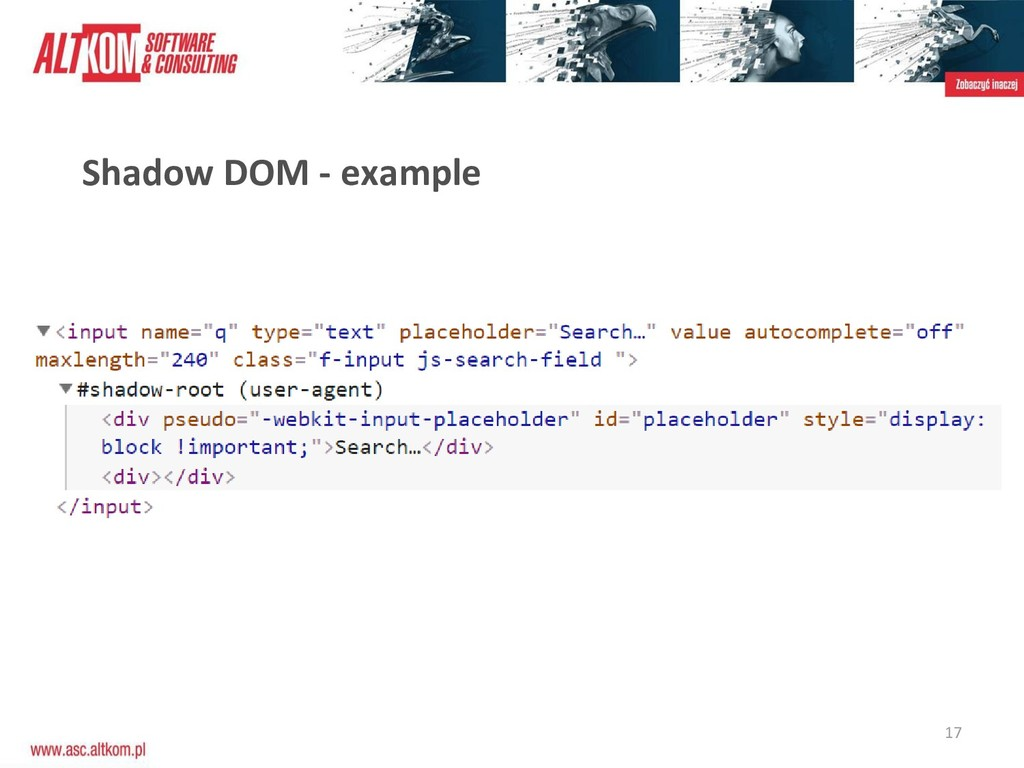 17 Shadow DOM - example
