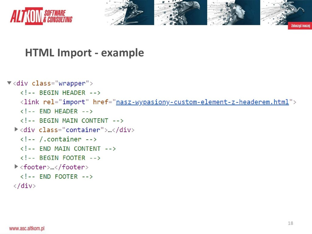 18 HTML Import - example