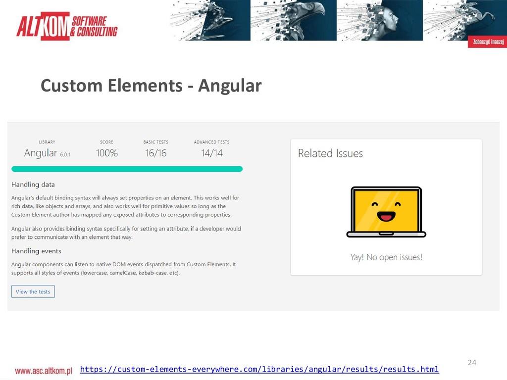 24 Custom Elements - Angular https://custom-ele...