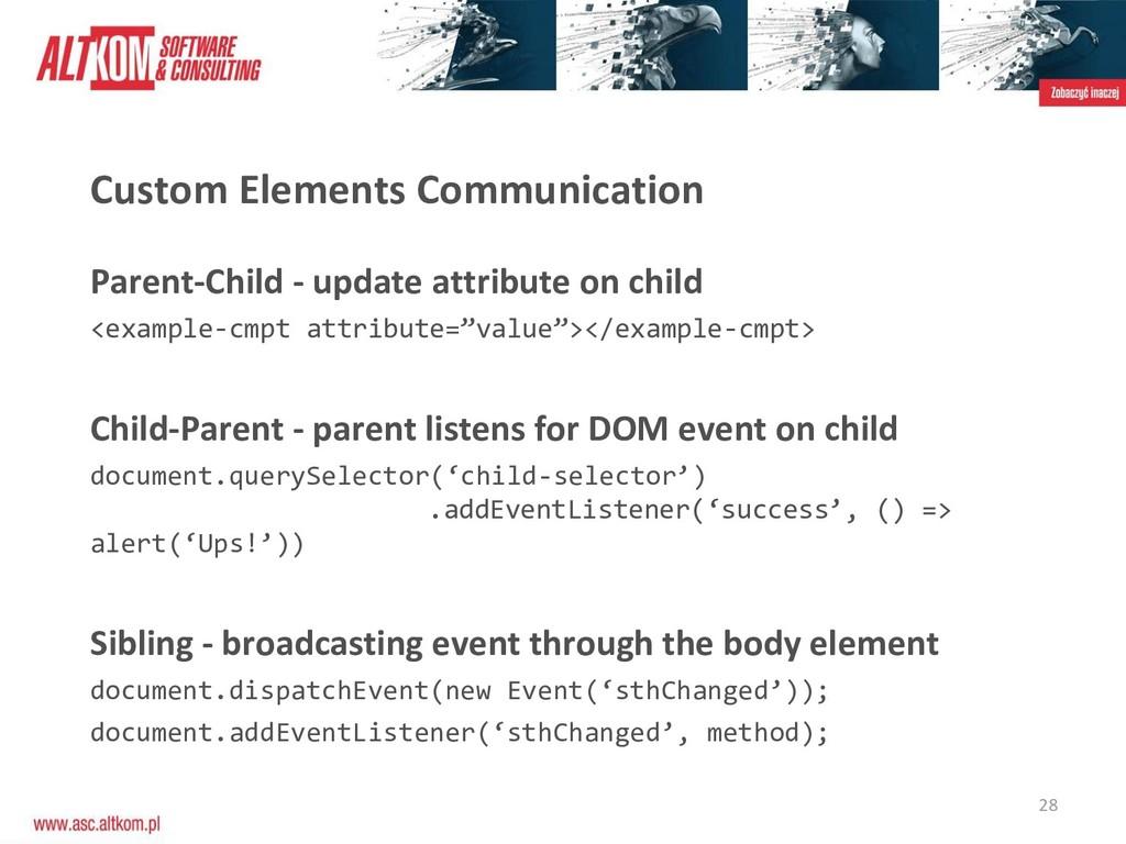 28 Custom Elements Communication Parent-Child -...