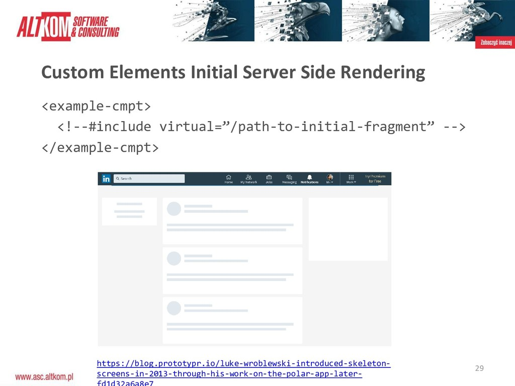 29 Custom Elements Initial Server Side Renderin...