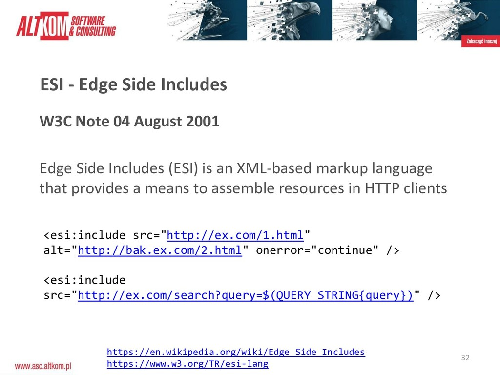 W3C Note 04 August 2001 Edge Side Includes (ESI...