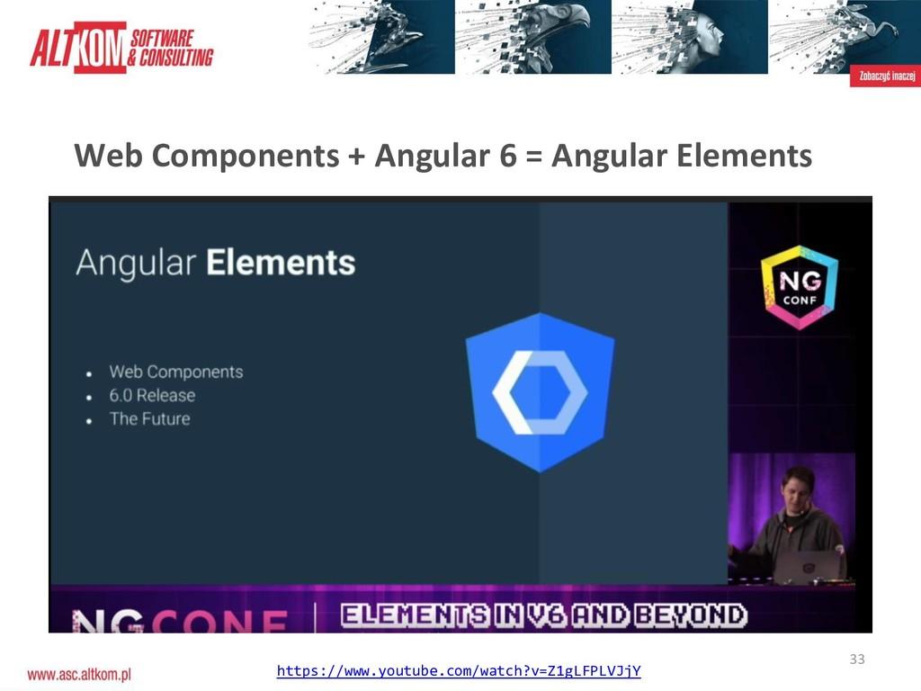 33 Web Components + Angular 6 = Angular Element...