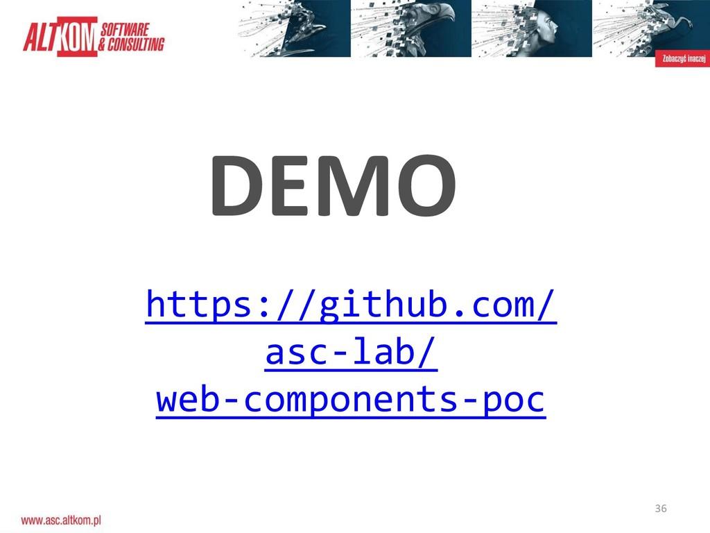 36 DEMO https://github.com/ asc-lab/ web-compon...