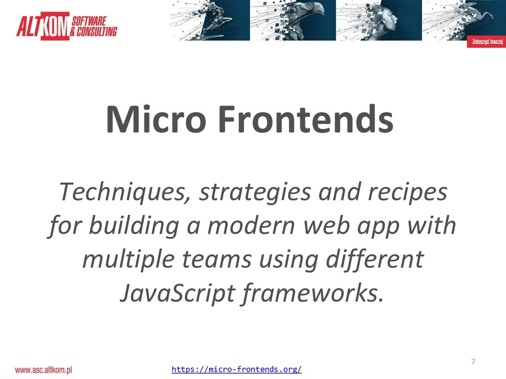 7 Micro Frontends Techniques, strategies and re...