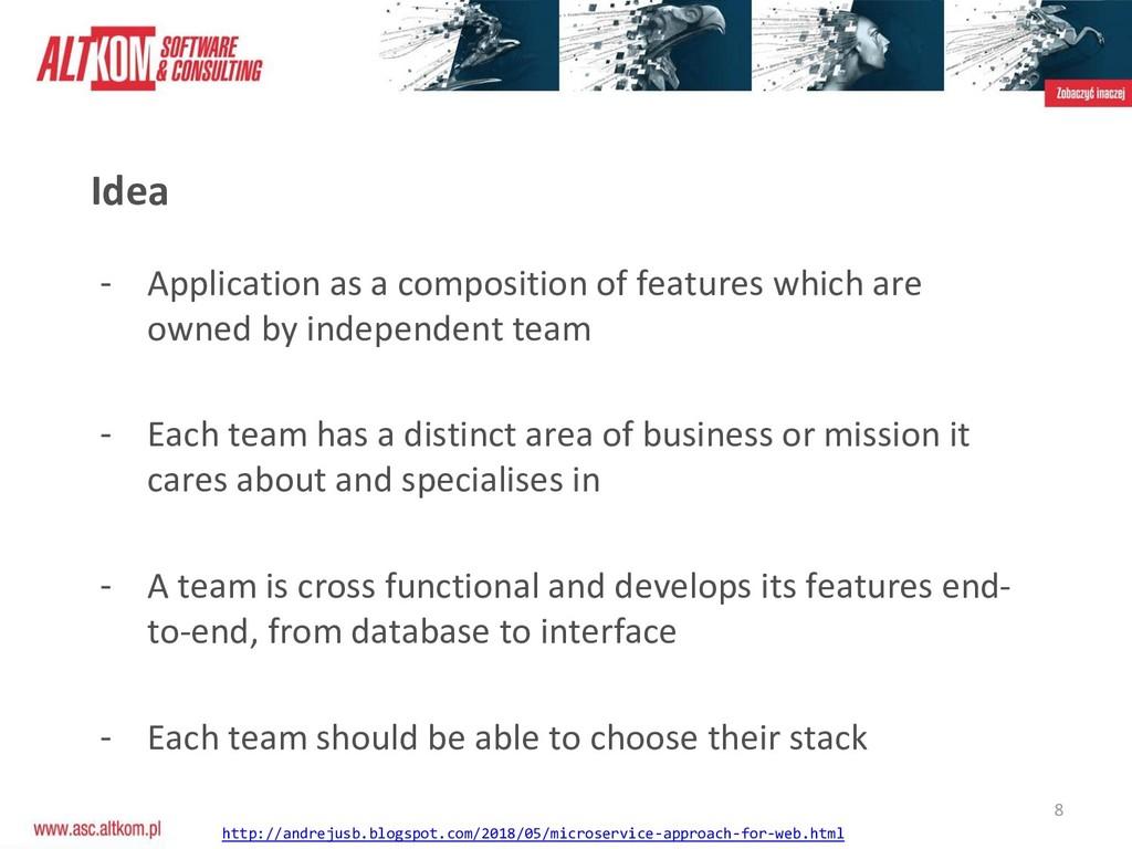 8 Idea - Application as a composition of featur...