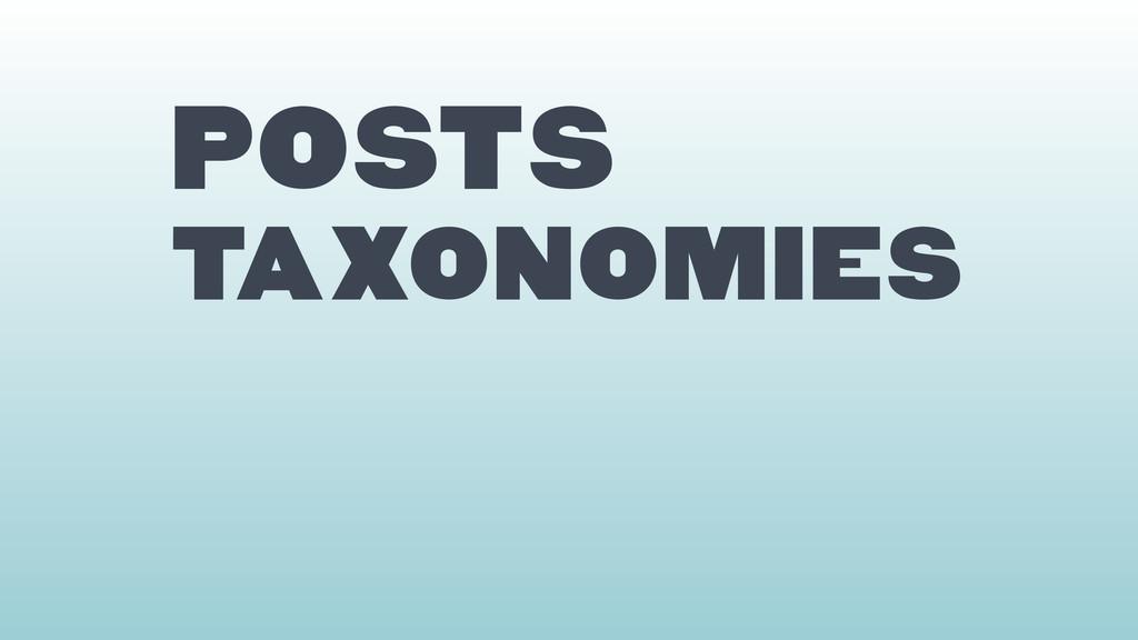 Posts TAXONOMIES