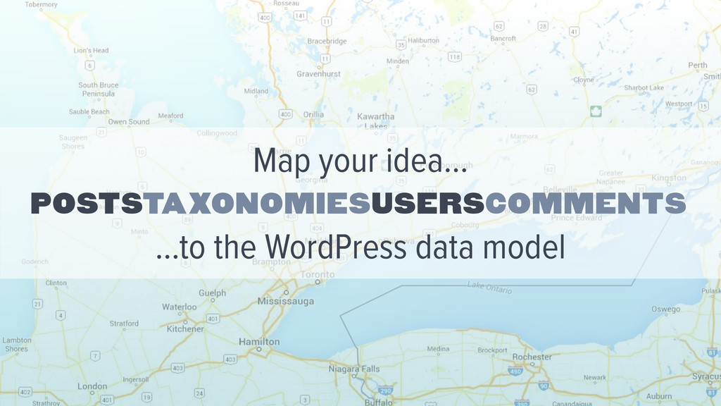 Poststaxonomiesuserscomments Map your idea… …to...