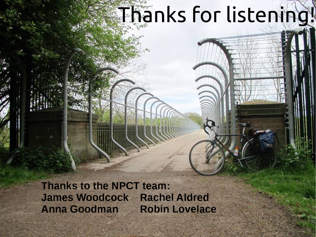 Thanks for listening! Thanks to the NPCT team: ...