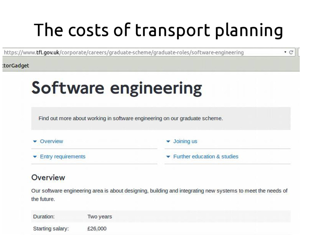 The costs of transport planning