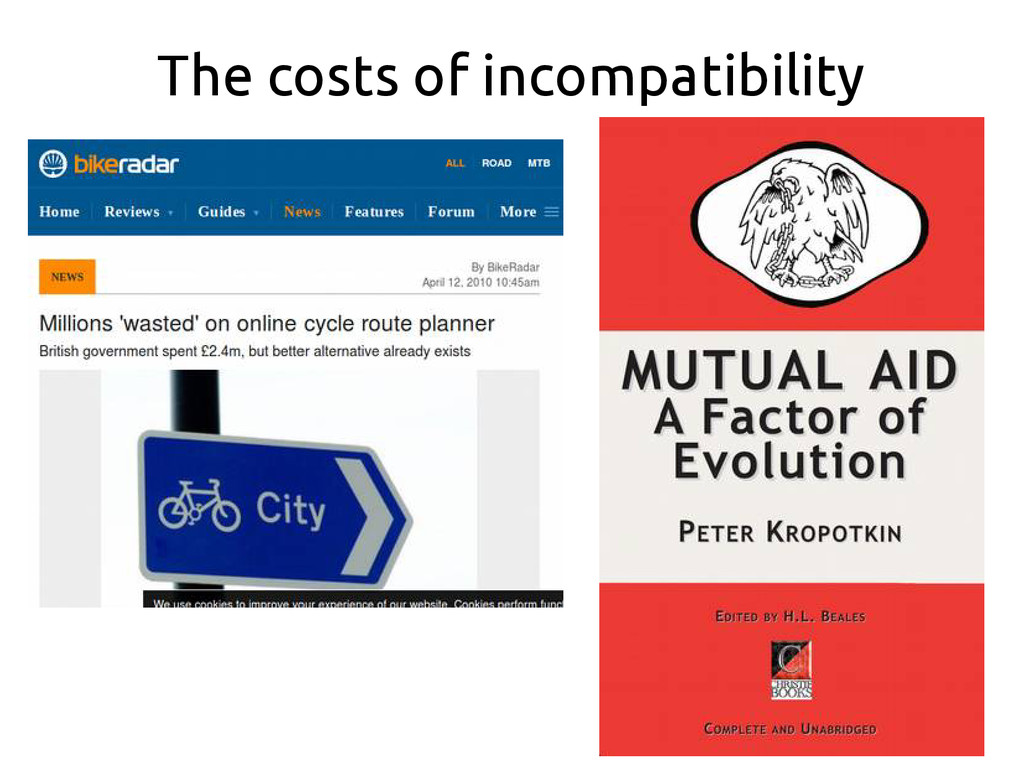 The costs of incompatibility