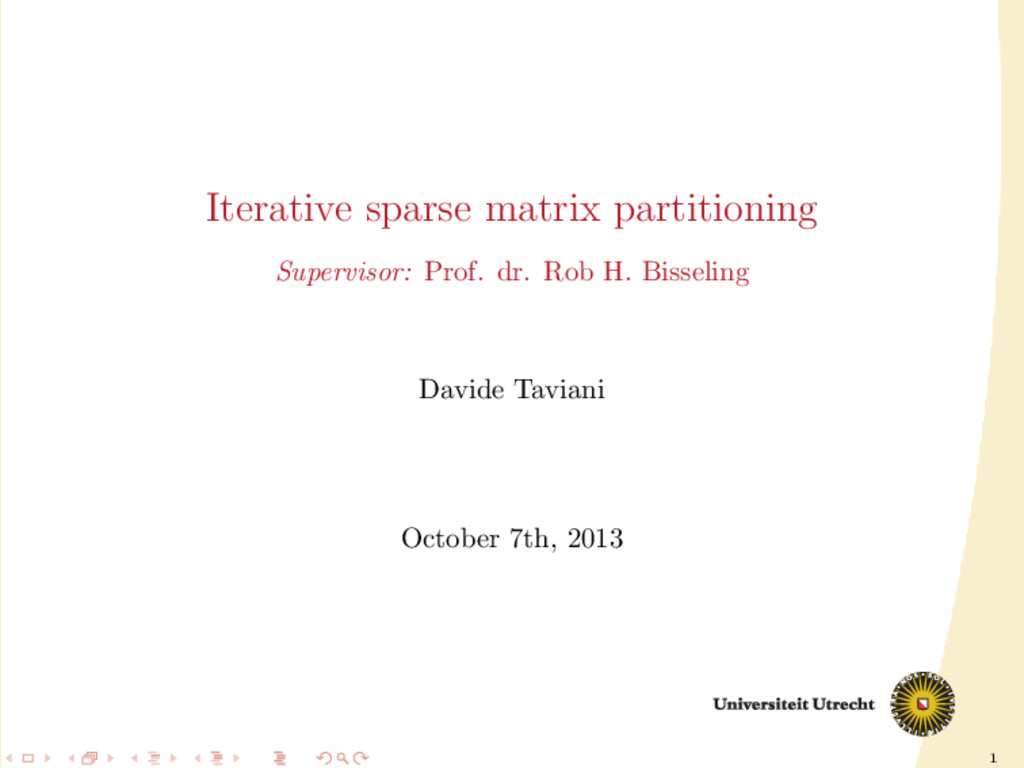 1 Iterative sparse matrix partitioning Supervis...