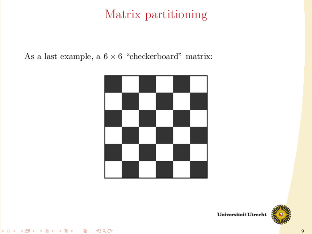 9 Matrix partitioning As a last example, a 6 × ...