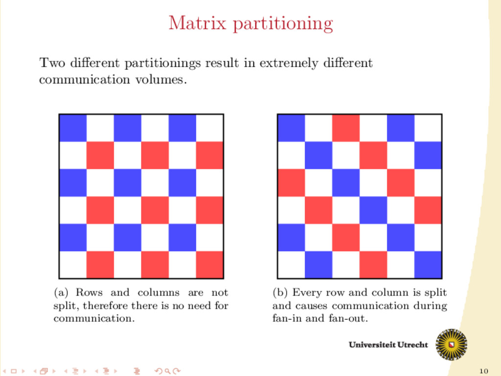 10 Matrix partitioning Two different partitionin...